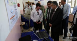 جامعة الكوفة تقيم المعرض العلمي ومؤتمر مشاريع التخرج لطلبة كلية الهندسة