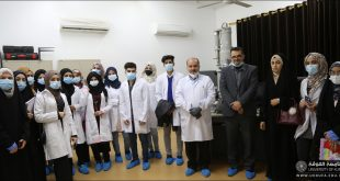 Students of the College of Engineering, University of Kufa, conduct a scientific visit to the electron microscope unit in the College of Sciences