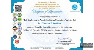 A lecturer from the Faculty of Engineering, University of Kufa, was a keynote speaker at the NANOSCIENCE Conference held at the University of Tehran