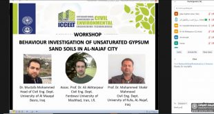 The Faculty of Engineering, University of Kufa, organizes a Workshop on the Behavior of Unsaturated Gypsum Sandy Soil in the City of Najaf